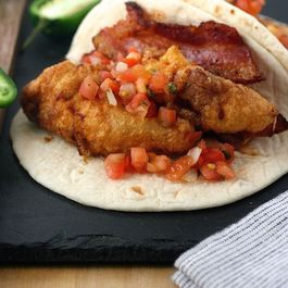 Crispy Chicken Club Tacos with Chipotle Crema
