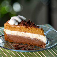 Chocolate Pumpkin Mousse Pie