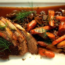 Fennel and Onion Braised Pot Roast with Carrots