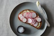 Radish and Butter Tartine