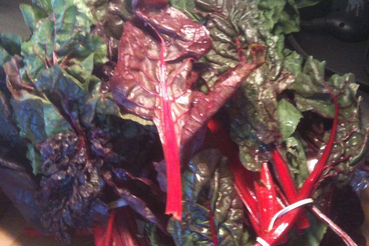 Swiss Chard Veggie Wraps with Tamarind Dipping Sauce