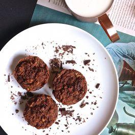 Vegan Double Chocolate Brownie Muffins