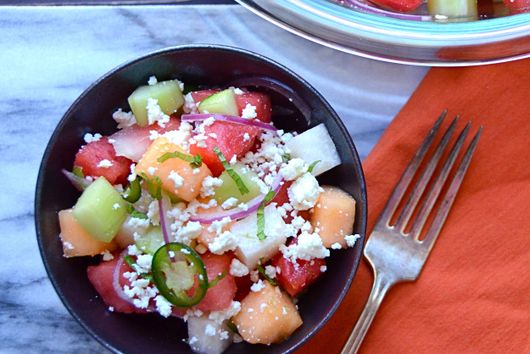 melon, cucumber and jicama salad