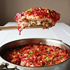 Baked pork chops with fried rice