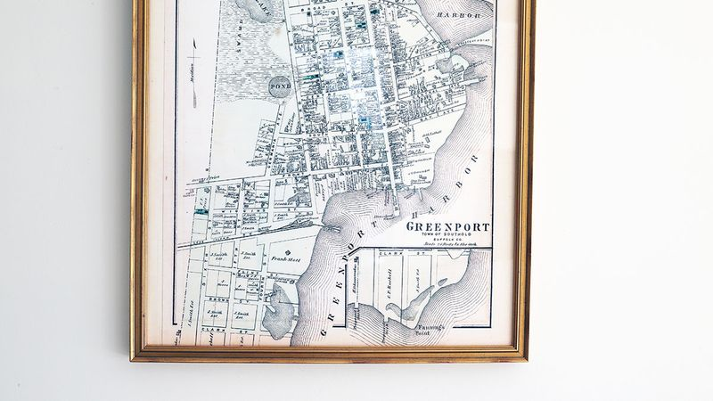 A map of Greenport, where Posie calls home.