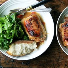 One-Pan Roasted Chicken with Sherry Vinegar Sauce
