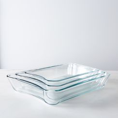 Borosilicate Glass 3-Piece Baking Dish Set