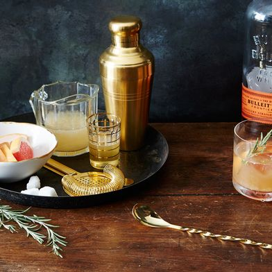 Japanese Matte Gold Cocktail Shaker