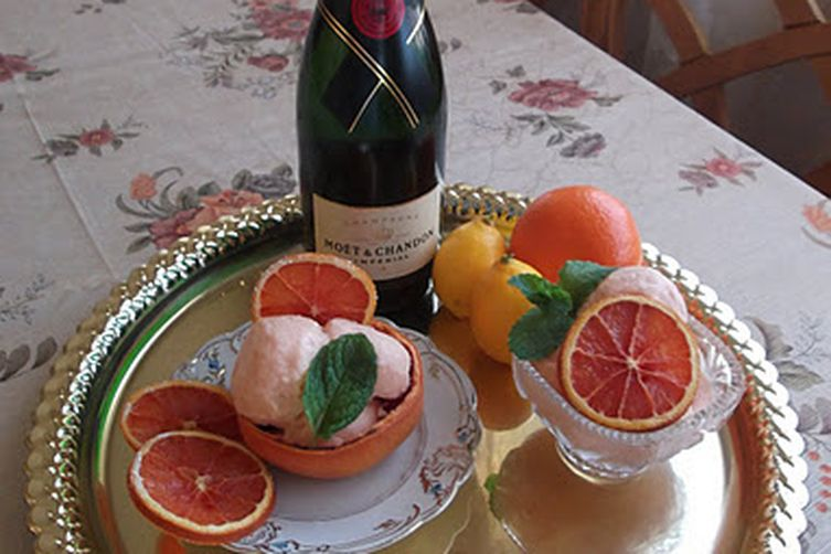 Champagne Three-Citrus Sorbet