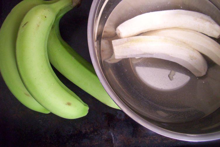 Green banana latkes