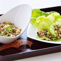 Chicken Lettuce Wraps with Jicama
