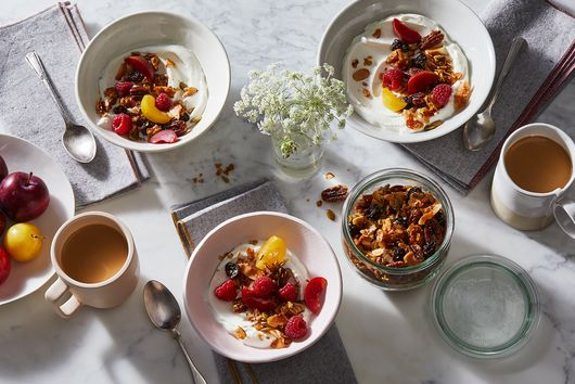 Olive Oil and Brown Sugar Granola, Minus the Grains