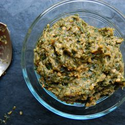Roasted Kale and Eggplant Tapenade
