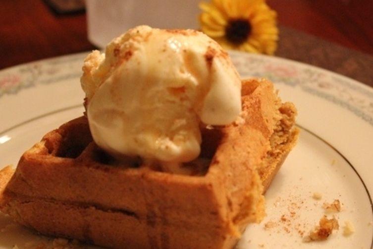 Pumpkin Walnut Belgian Waffles