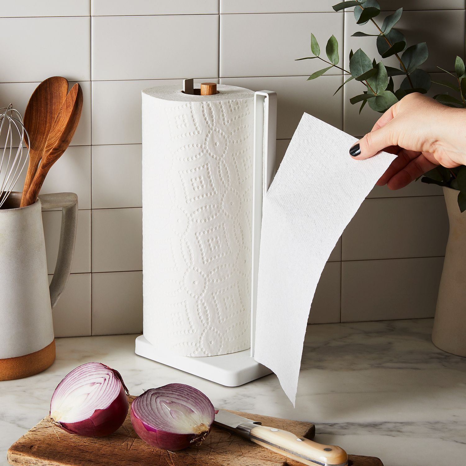 One Handed Paper Towel Holder By Yamazaki Home White On Food52