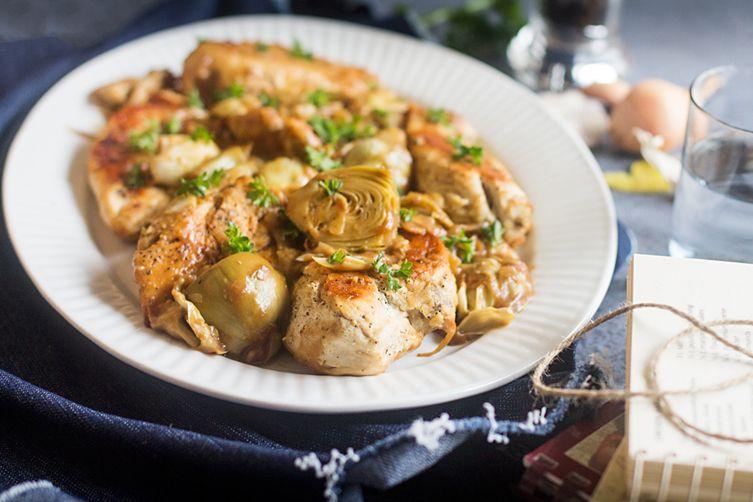 Italian Chicken with Artichoke Sauce