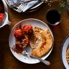 Greek Meatballs in Spiced Tomato Sauce