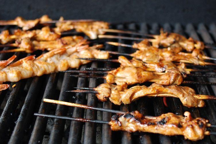 Yucatan Chicken and Shrimp Skewers