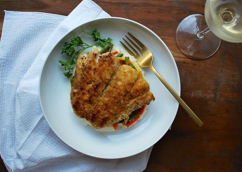 Ritz Cracker-Crusted Bluefish