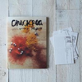 Chickpea Vegan Quarterly with Set of 6 Modern Recipe Cards