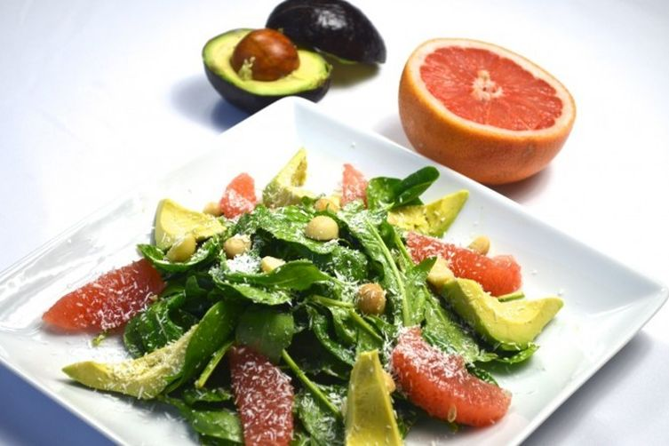 Grapefruit Salad with Avocado and Coconut