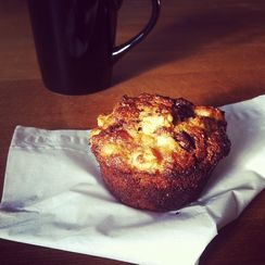 Naughty and Nice Dark Chocolate and Apple Wholegrain Muffins