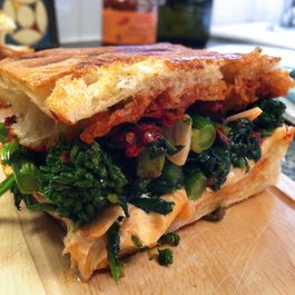 Broccoli Rabe & Fresh Mozzarella Panini