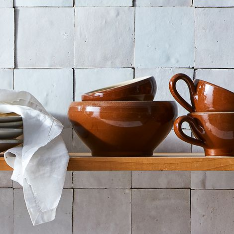 Vintage French Stoneware Bowl