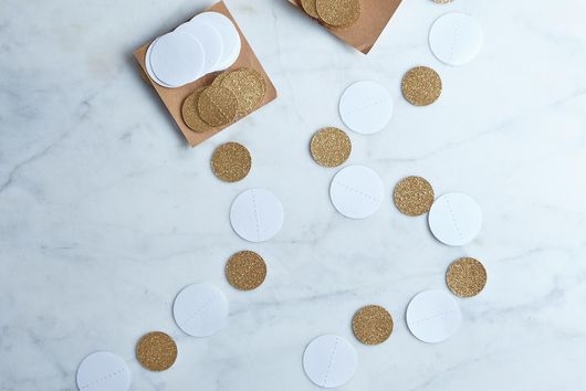 White and Gold Circle Garlands (Set of 2)