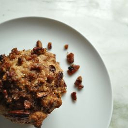 Crunchy Banana Pecan (and Dark Chocolate) Muffins