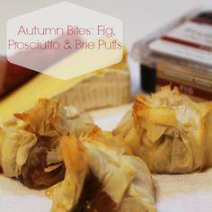 Fig, Prosciutto and Brie Puffs