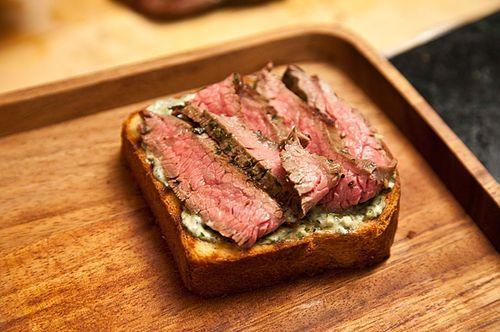 Flank Steak on Texas Toast with Chimichurri Recipe on Food52