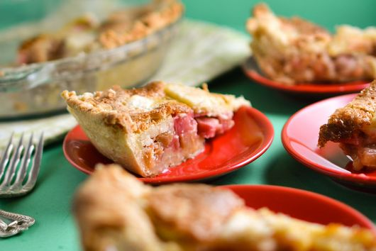 Rhubarb Custard Pie From The Junior League Of Madison Cookbook
