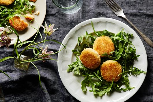 Cheesy Fritters With Arugula Salad