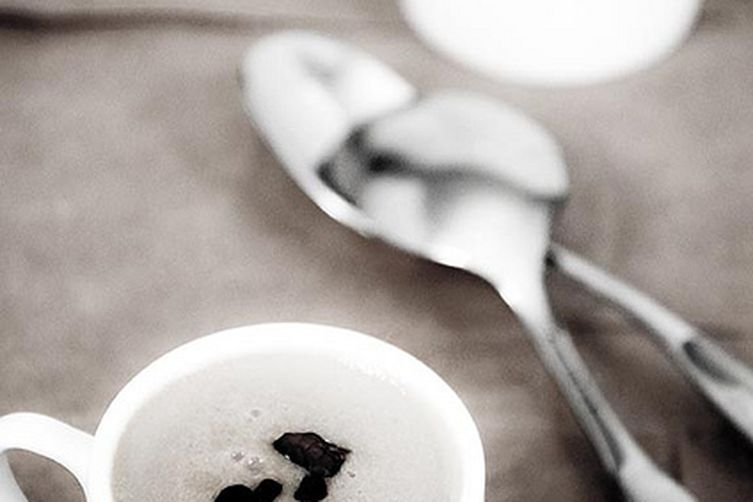 Coffee Panna Cotta with Cacao Nibs