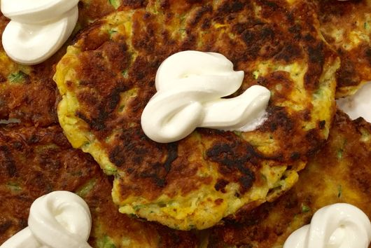 Easy Cheesy Butternut Squash and Zucchini Fritters
