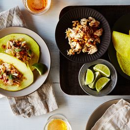 F446ed46 719d 445a 820f 76d18342c544  2015 0804 crab and cantaloupe tacos with pickled jicama tortillas bobbi lin 5602