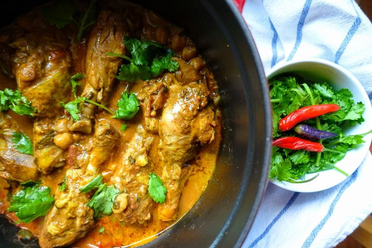One-Pot Roasted Chicken Curry with Tomatoes & Coconut