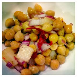 Chickpea and Potato Chaat Salad