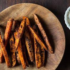 White Bean Soup + Spiced Sweet Potato Fries