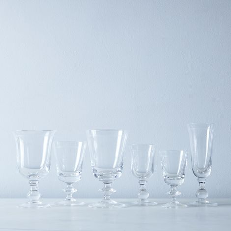 Double Line Vintage Italian Crystal Glassware