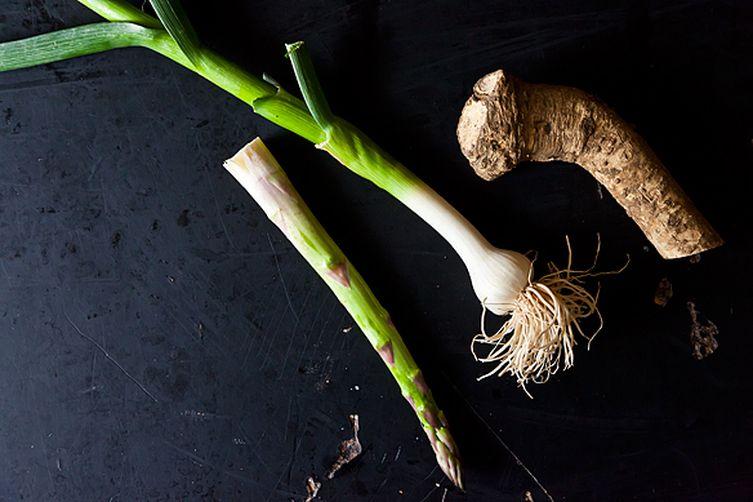 Asparagus with Young Garlic and Horseradish