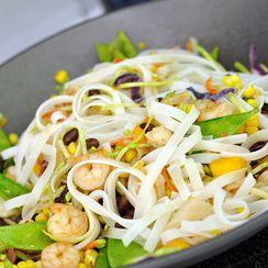 Black Bean Mango Stir Fry with Cilantro Lime Coconut Sauce