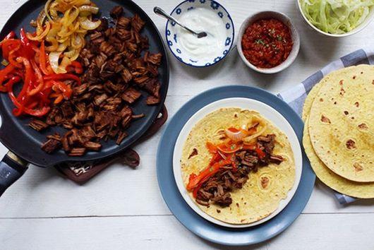 Delicious Dinners Shredded tender brisket beef fajitas