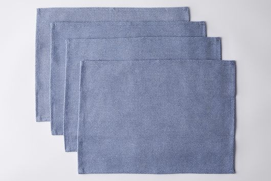 Upcycled Denim Cotton Placemats (Set of 4)