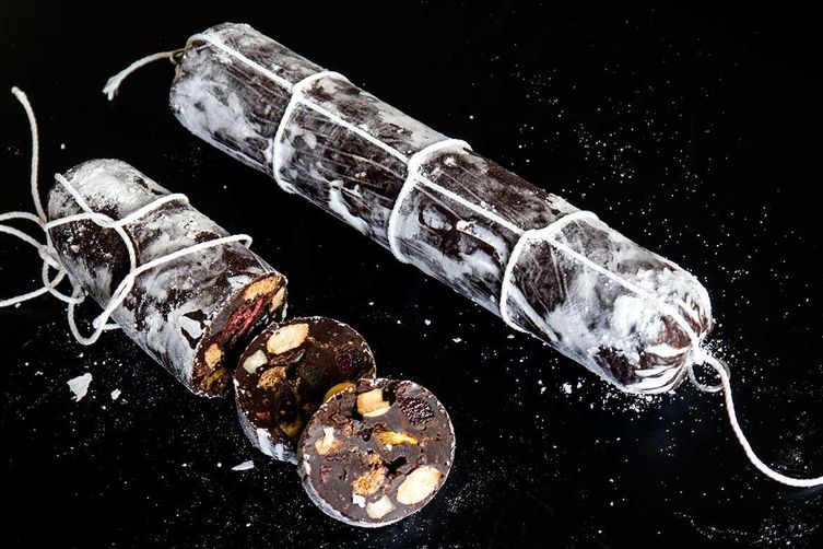 chocolate holiday sausages