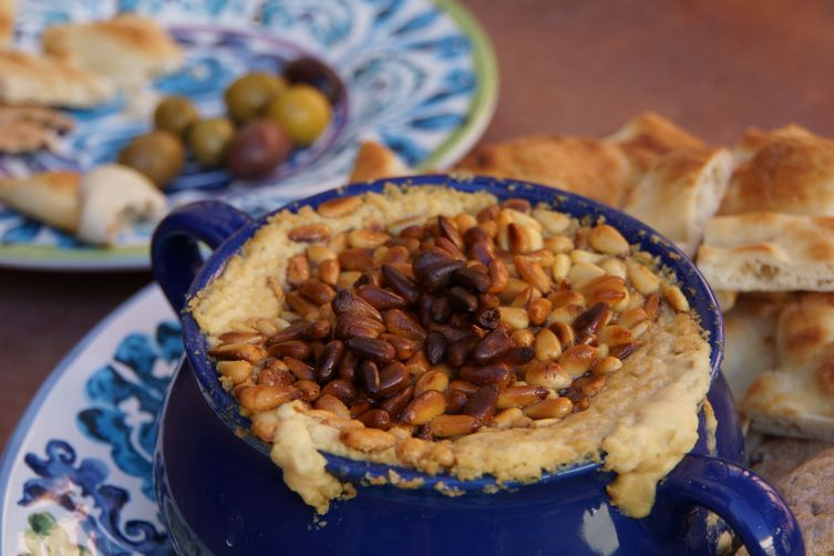 Warm Hummus with Pine Nuts