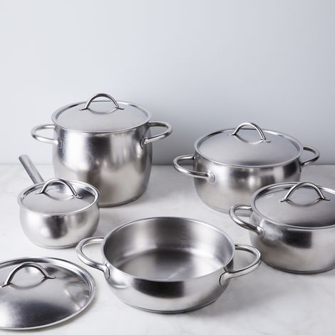 Italian Brushed Stainless Steel Cookware