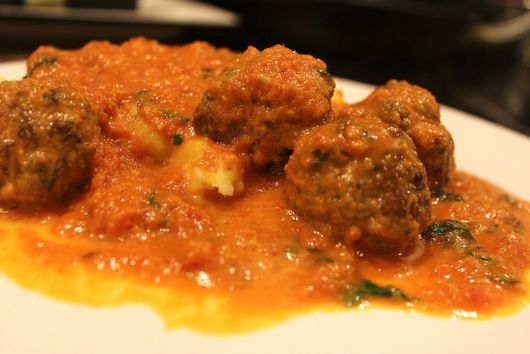 Meatballs in Creamy Tomato-Basil Bisque