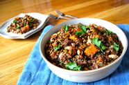 Red Quinoa Salad with Spicy Lime Vinaigrette